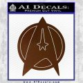Star Fleet Communicator Badge Decal Sticker 2016 Brown Vinyl 120x120