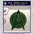 Star Fleet Communicator Badge Decal Sticker 2016 Dark Green Vinyl 120x120