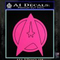 Star Fleet Communicator Badge Decal Sticker 2016 Hot Pink Vinyl 120x120