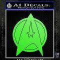 Star Fleet Communicator Badge Decal Sticker 2016 Lime Green Vinyl 120x120
