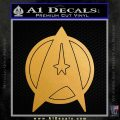 Star Fleet Communicator Badge Decal Sticker 2016 Metallic Gold Vinyl Vinyl 120x120