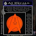 Star Fleet Communicator Badge Decal Sticker 2016 Orange Vinyl Emblem 120x120