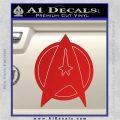 Star Fleet Communicator Badge Decal Sticker 2016 Red Vinyl 120x120