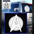 Star Fleet Communicator Badge Decal Sticker 2016 White Emblem 120x120