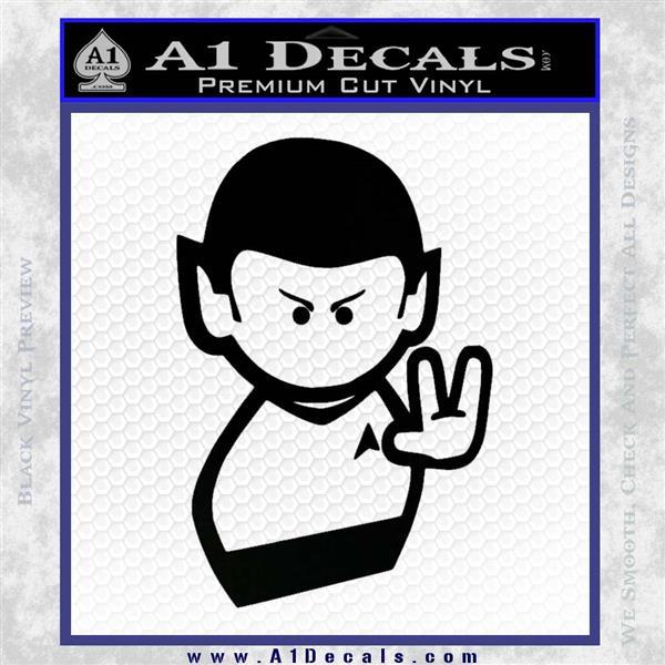 Star Trek Commander Vulcan Mr. Spock Decal Sticker Black Logo Emblem