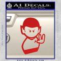 Star Trek Commander Vulcan Mr. Spock Decal Sticker Red Vinyl 120x120