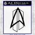 Star Trek Communicator D2 Decal Sticker Black Logo Emblem 120x120