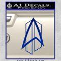 Star Trek Communicator D2 Decal Sticker Blue Vinyl 120x120