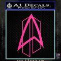 Star Trek Communicator D2 Decal Sticker Hot Pink Vinyl 120x120