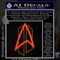 Star Trek Communicator D2 Decal Sticker Orange Vinyl Emblem 120x120