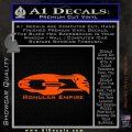 Star Trek Romulan Ship Decal Sticker Orange Vinyl Emblem 120x120