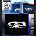 Star Trek Romulan Ship Decal Sticker White Emblem 120x120