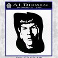 Star Trek Spock DS6 Decal Sticker Black Logo Emblem 120x120