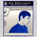 Star Trek Young Spock Decal Sticker Blue Vinyl 120x120