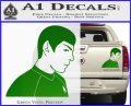 Star Trek Young Spock Decal Sticker Green Vinyl 120x97