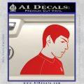 Star Trek Young Spock Decal Sticker Red Vinyl 120x120