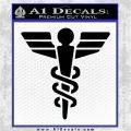 Starfleet Medical Caduceus Symbol Decal Sticker Black Logo Emblem 120x120