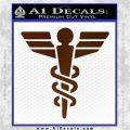 Starfleet Medical Caduceus Symbol Decal Sticker Brown Vinyl 120x120