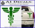 Starfleet Medical Caduceus Symbol Decal Sticker Green Vinyl 120x97
