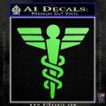 Starfleet Medical Caduceus Symbol Decal Sticker Lime Green Vinyl 120x120