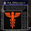 Starfleet Medical Caduceus Symbol Decal Sticker Orange Vinyl Emblem 120x120