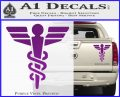 Starfleet Medical Caduceus Symbol Decal Sticker Purple Vinyl 120x97