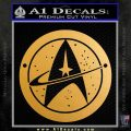 Starfleet Star Trek Emblem Decal Sticker Metallic Gold Vinyl Vinyl 120x120