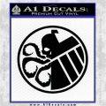 Superhero Mashup Hydra Shield Decal Sticker Black Logo Emblem 120x120