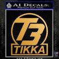 T3 Tikka Logo Gun Vinyl Decal Sticker Metallic Gold Vinyl 120x120