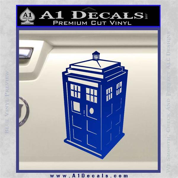 TARDIS 3D Decal Sticker Doctor Who D13 Blue Vinyl