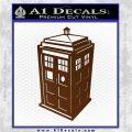 TARDIS 3D Decal Sticker Doctor Who D13 Brown Vinyl 120x120