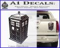TARDIS 3D Decal Sticker Doctor Who D13 Carbon Fiber Black 120x97