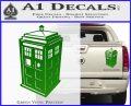 TARDIS 3D Decal Sticker Doctor Who D13 Green Vinyl 120x97