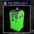 TARDIS 3D Decal Sticker Doctor Who D13 Lime Green Vinyl 120x120