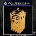 TARDIS 3D Decal Sticker Doctor Who D13 Metallic Gold Vinyl Vinyl 120x120