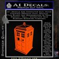 TARDIS 3D Decal Sticker Doctor Who D13 Orange Vinyl Emblem 120x120