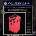 TARDIS 3D Decal Sticker Doctor Who D13 Pink Vinyl Emblem 120x120