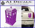 TARDIS 3D Decal Sticker Doctor Who D13 Purple Vinyl 120x97