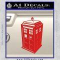 TARDIS 3D Decal Sticker Doctor Who D13 Red Vinyl 120x120