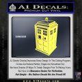 TARDIS 3D Decal Sticker Doctor Who D13 Yelllow Vinyl 120x120
