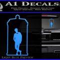 TARDIS Doctor Inside Decal Sticker Light Blue Vinyl 120x120