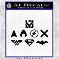 THE JUSTICE LEAGUE LOGO SET VINYL DECAL STICKER Black Logo Emblem 120x120