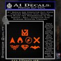 THE JUSTICE LEAGUE LOGO SET VINYL DECAL STICKER Orange Vinyl Emblem 120x120