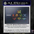THE JUSTICE LEAGUE LOGO SET VINYL DECAL STICKER Sparkle Glitter Vinyl 120x120