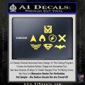 THE JUSTICE LEAGUE LOGO SET VINYL DECAL STICKER Yelllow Vinyl 120x120