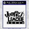 THE JUSTICE LEAGUE TEXT LOGO VINYL DECAL STICKER Black Logo Emblem 120x120