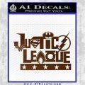 THE JUSTICE LEAGUE TEXT LOGO VINYL DECAL STICKER Brown Vinyl 120x120