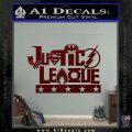 THE JUSTICE LEAGUE TEXT LOGO VINYL DECAL STICKER Dark Red Vinyl 120x120
