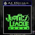 THE JUSTICE LEAGUE TEXT LOGO VINYL DECAL STICKER Lime Green Vinyl 120x120