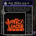 THE JUSTICE LEAGUE TEXT LOGO VINYL DECAL STICKER Orange Vinyl Emblem 120x120